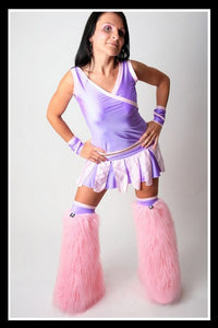 Long Cheerleader Lilac & Pink Outfit