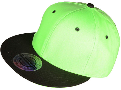Neon Green/Black Snapback Hat w/ Green Underbill