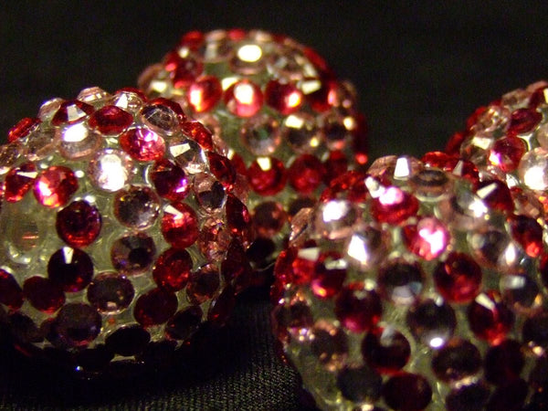 Pink Striped Disco Ball Beads