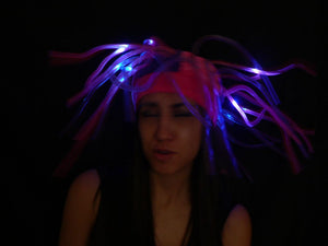 Flashing LED Tentacle Top Hat- Pink/Purple