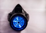 Black Frame Single Cartridge Gas Mask