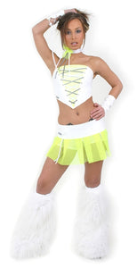 Shock Outfit White and Yellow