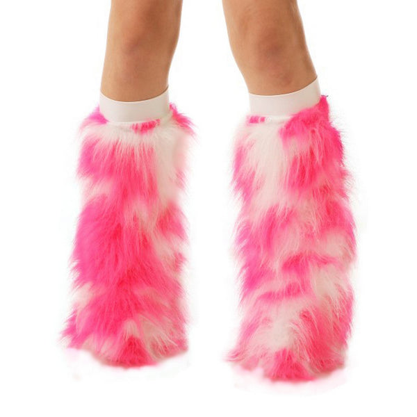 Hot Pink and White Fluffies