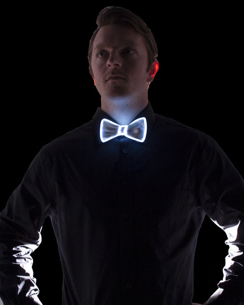 El Wire Bow Tie White