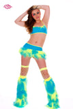 Juicy Rave Outfit -UV Yellow/Turquoise