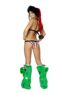 Candy Cane Buckle Bikini Rave Outfit Back
