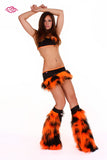 Juicy Rave Outfit -Black/Orange Front