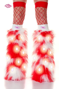 Peppermint LED Furry Boot Covers