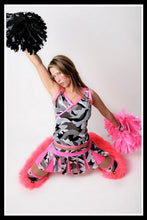 Long Cheerleader Camo & Pink Outfit