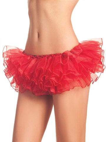 Mini Tiered Red Petticoat