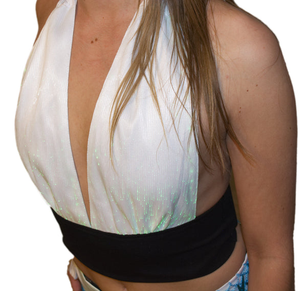 Fiber Optic Light up Halter Top