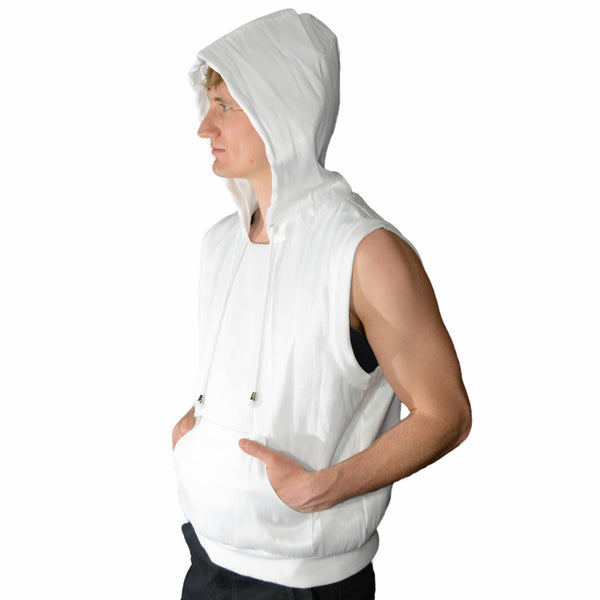 Fiber Optic Sleeveless Hoodie - Color Changing