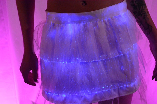 Fiber Optic Light up Mini Skirt