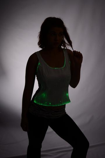 Fiber Optic Women's Light Up Tank Top