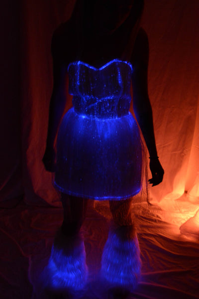 Sound Activated  Fiber Optic Sundress - Bluetooth