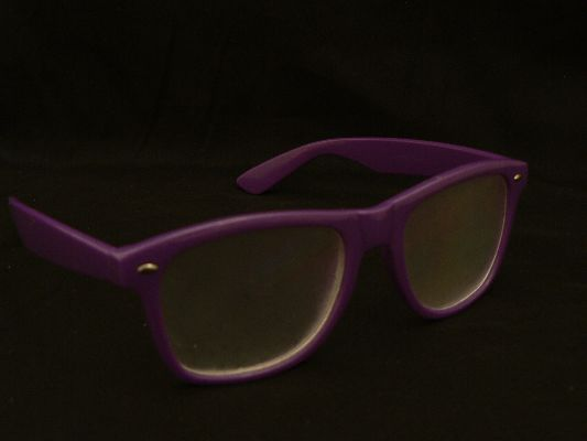 Rainbow Diffraction Vision Glasses Purple