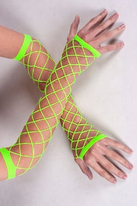 Fish Net Arms- UV Green