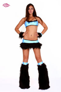 Juicy Rave Outfit -Baby Blue/Black