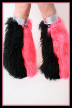 Vertical Black & Pink Fluffies