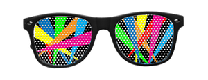 Multi Spot-Light Vinyl Sun Glasses with Black Frames