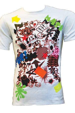Mash Up White T-shirt