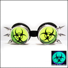 UV Green BioHazard Rave Goggles
