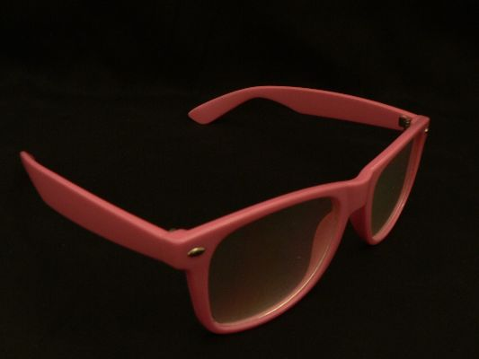 Rainbow Diffraction Vision Glasses Light Pink
