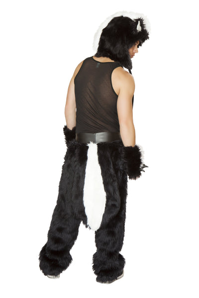 Unisexy Skunk Rave Chaps Costume Back Male