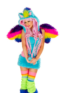 Rainbow Pony Rave Costume Front