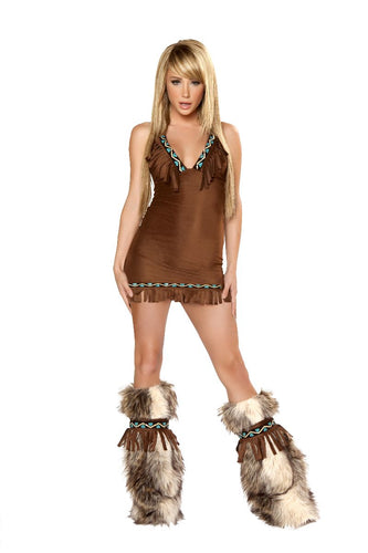 Brown Eskimo Fringe Dress