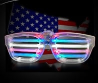 Red White and Blue Shutter Shades