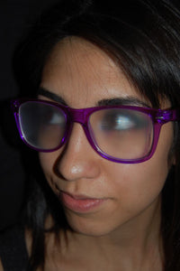 Rainbow Diffraction Vision Glasses- Transparent Purple