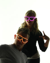 orange and pink el wire shades
