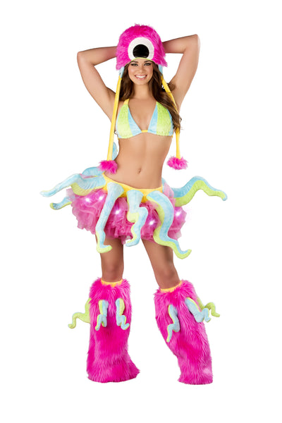 Sexy Ocstopus Rave Costume Front