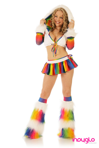 Rainbow Crush Outfit White