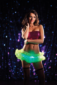 Light-Up Mini Petticoat - Neon Green