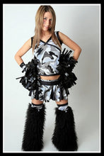 Long Cheerleader Black & Camo Outfit