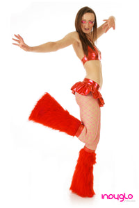 Red Mini Skirt Rave Outfit