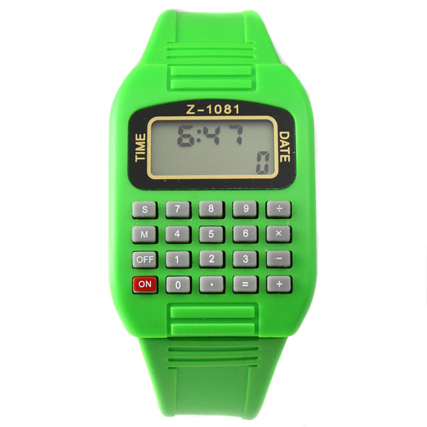 Green LED calculator watch