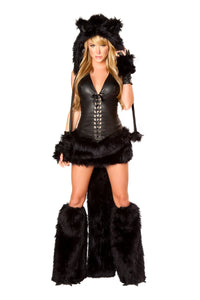 Black Cat Rave Costume Front