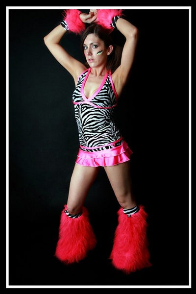 Long Trance Pink Zebra Outfit