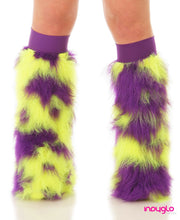 Avior Fluffy Leg Warmers with Purple and FloYellow Fur