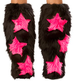 Black with UV Hot Pink Stars