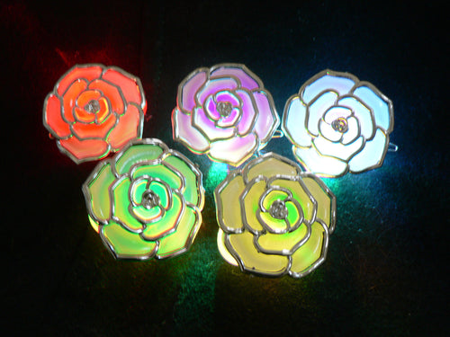 Lit Up LED Rose Hair Clip