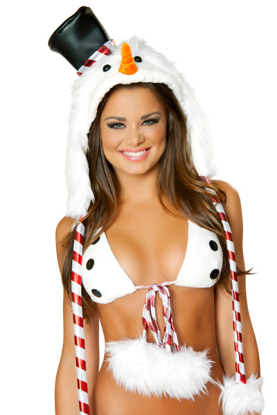 Snowman Bikini Rave Outfit Close up