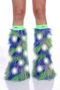 Cosmic Fairy Furry LED Leg Warmers