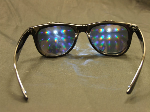 Rainbow Diffraction Vision Glasses- BLACK