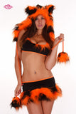 Furry Tiger Rave Outfit Close Up