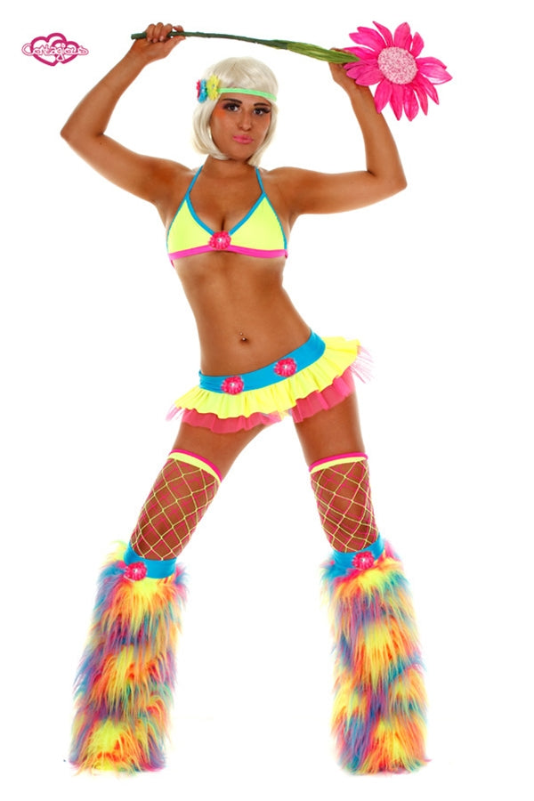 Crazy Daisy Rave Outfit- Electric
