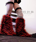 Monster Fur Fluffies in Brown/Black/Red